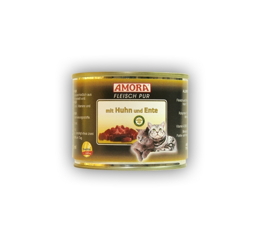 Amora Canned Cat Food (Chicken and Duck) 200g