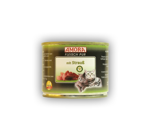 Amora Canned Cat Food (Ostrich) 200g