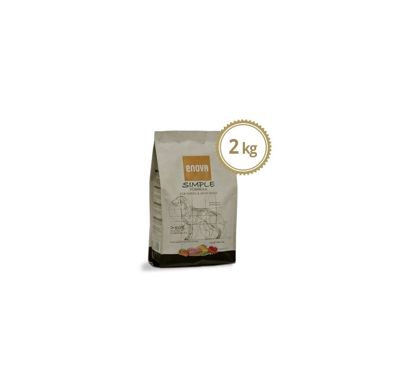 ENOVA Simple Teraviljavaba Kuivtoit Koerale 2kg