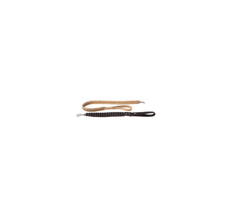 Поводок кожаный Klin, бежевый 40мм х 60см