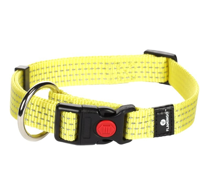 Adjustable Nylon Collar with Reflector 30-45cm / 15mm