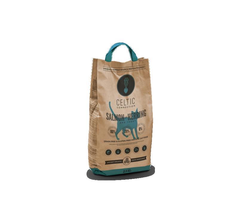 Celtic Connection кошачий корм с лососем и сельдью 2,5кг