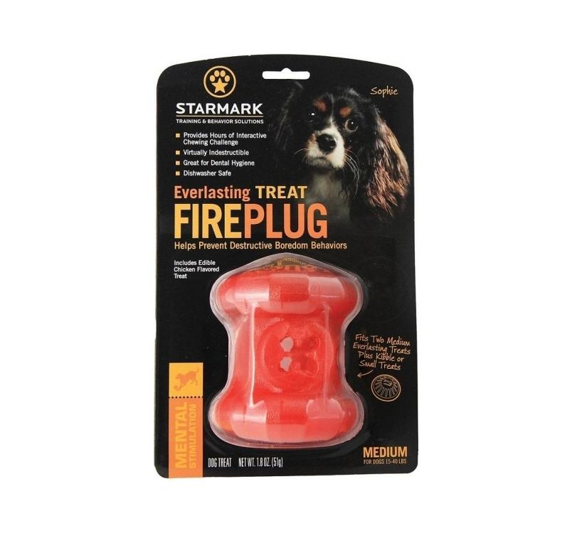 """STARMARK Everlasting Treat Fire Plug - Интерактивная игрушка для собак """"Пожарный гидрант"""" M"""