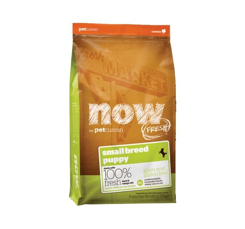 NOW FRESH беззерновой Корм для щенков малых пород, с индейкой, уткой и овощами 2,72кг
