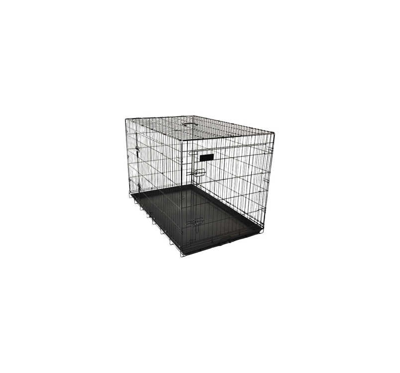 Клетка металлическая с 2 дверками, 77x47x55см, черная