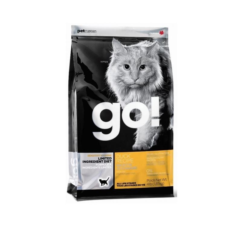 GO! Sensitivity+Shine Teraviljavaba Kuivtoit Pardiga Kassile 1,81kg