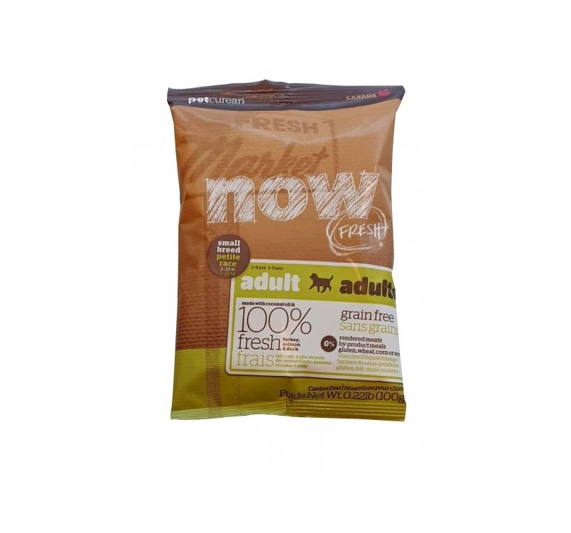 NOW FRESH беззерновой Корм для взрослых собак малых пород, с индейкой, уткой и овощами 100г