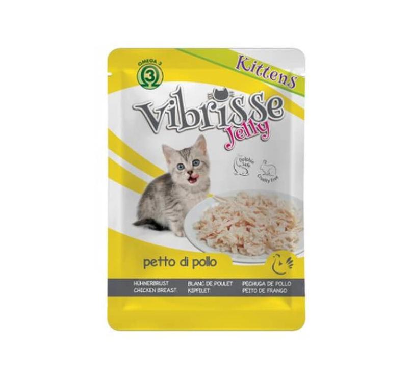 Vibrisse желе для котят - курица 70г