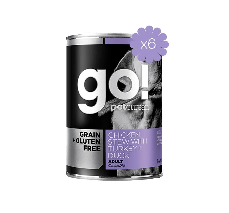 6x Go! Chicken Stew with Turkey and Duck 400g