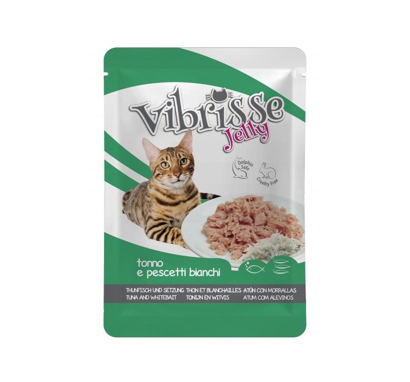 Vibrisse желе для кошек - Тунец & снеток 70г