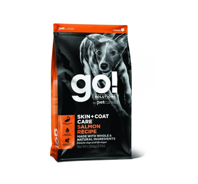 GO! Skin + Coat корм с лососем для собак всех возрастов 11.4кг
