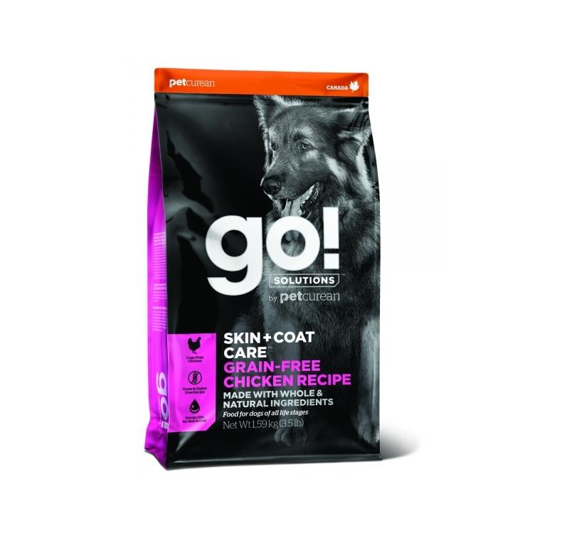 GO! Skin + Coat Teraviljavaba Kanalihaga Kuivtoit Koerale & Kutsikale 1,6kg