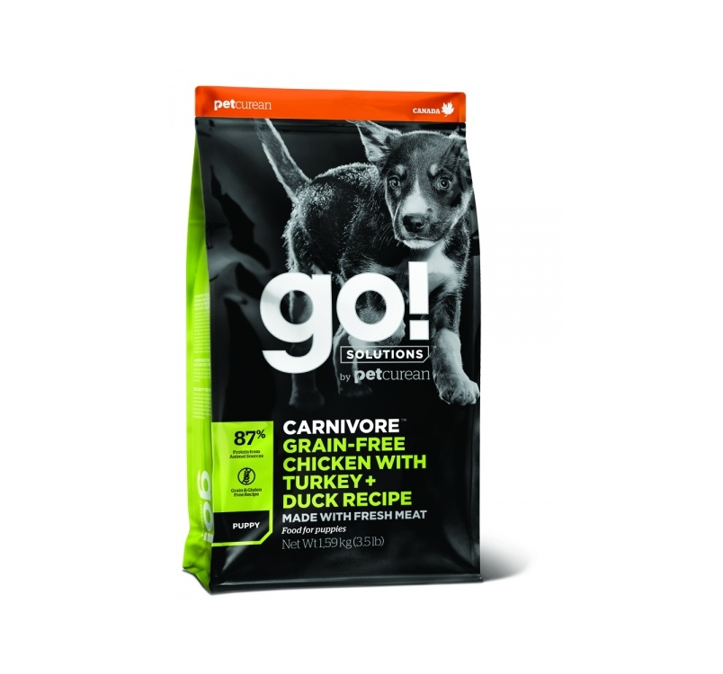 GO! Carnivore Chicken, Turkey + Duck Recipe for Puppies 1,6kg