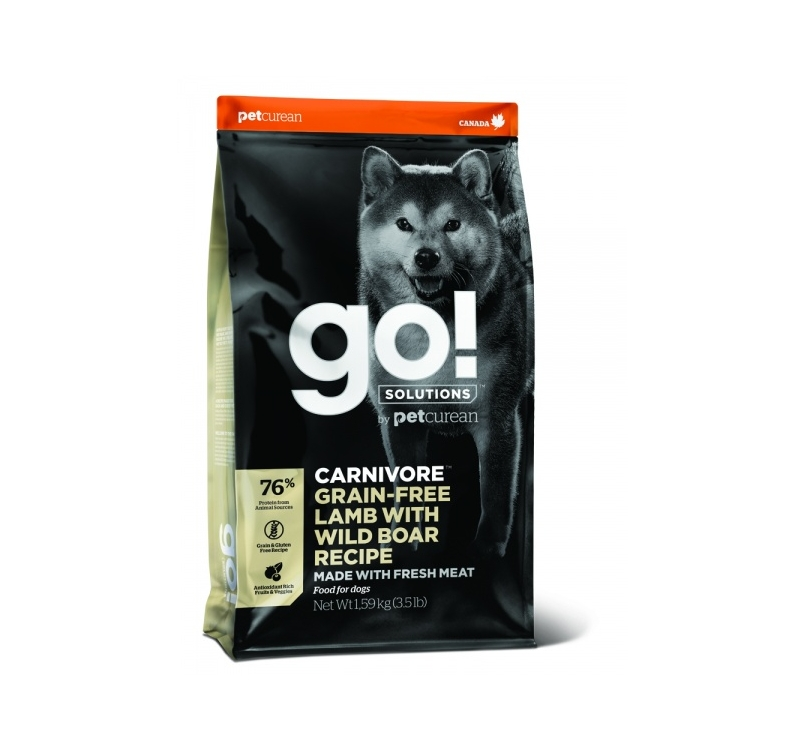 GO! Carnivore Lamb with Wild Boar Recipe for Dogs & Puppies 1,6kg