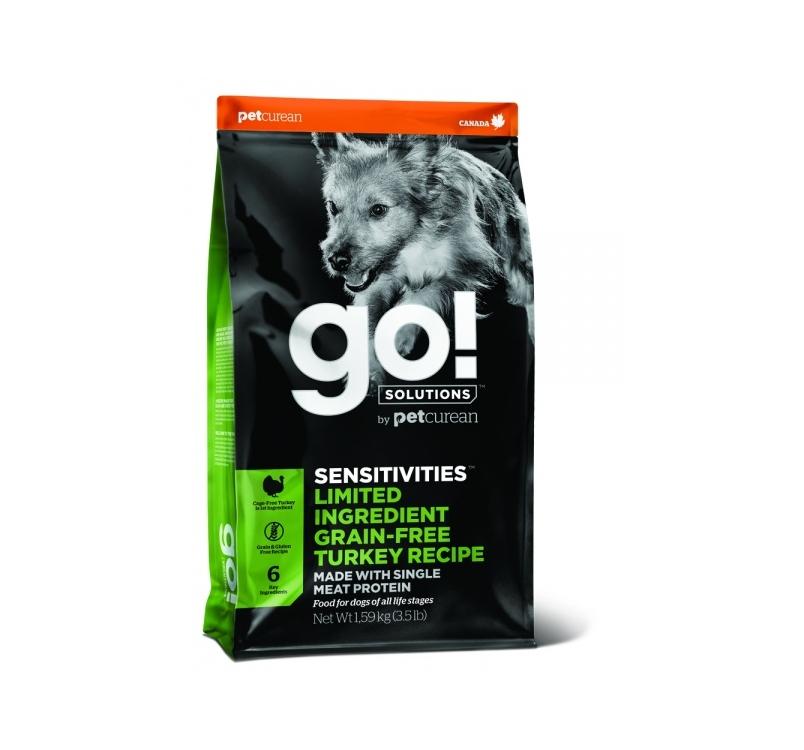 Go! Sensitivities Kalkuniga Kuivtoit Koerale & Kutsikale 1,6kg
