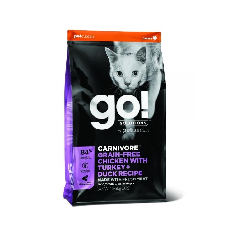 GO! Carnivore Kana, Kalkun + Part Kuivtoit Kassile & Kassipojale 1,4kg