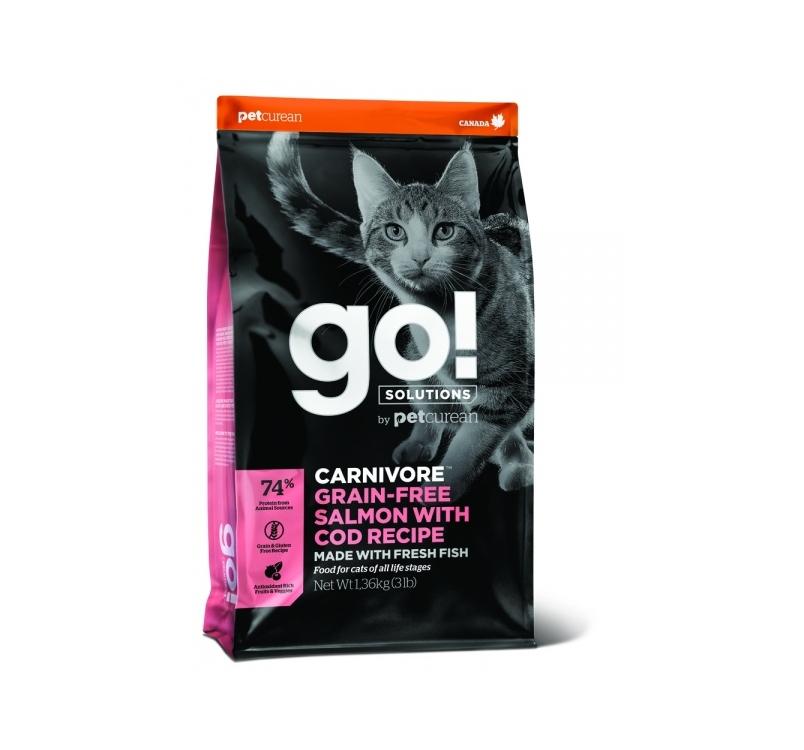GO! Carnivore Lõhe + Tursk Kuivtoit Kassile & Kassipojale 1,4kg