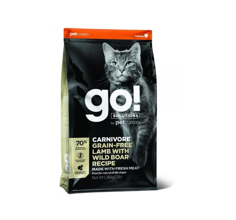 Пробник - GO! беззерновой корм для котят и кошек, с ягненком и мясом дикого кабана 100г