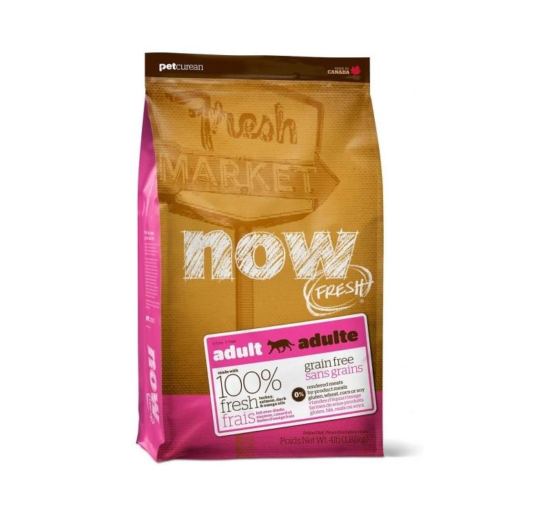 NOW FRESH беззерновой Корм для взрослых кошек с индейкой, уткой и овощами 3,63кг