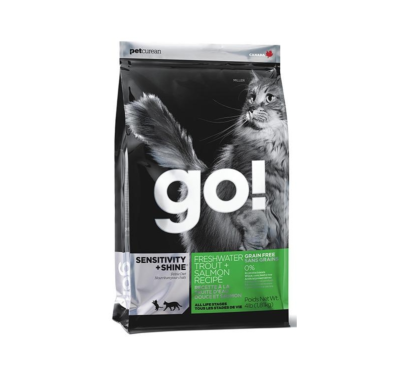 GO! Sensitivity+Shine Teraviljavaba Kuivtoit Forelli & Lõhega Kassile 7,26kg