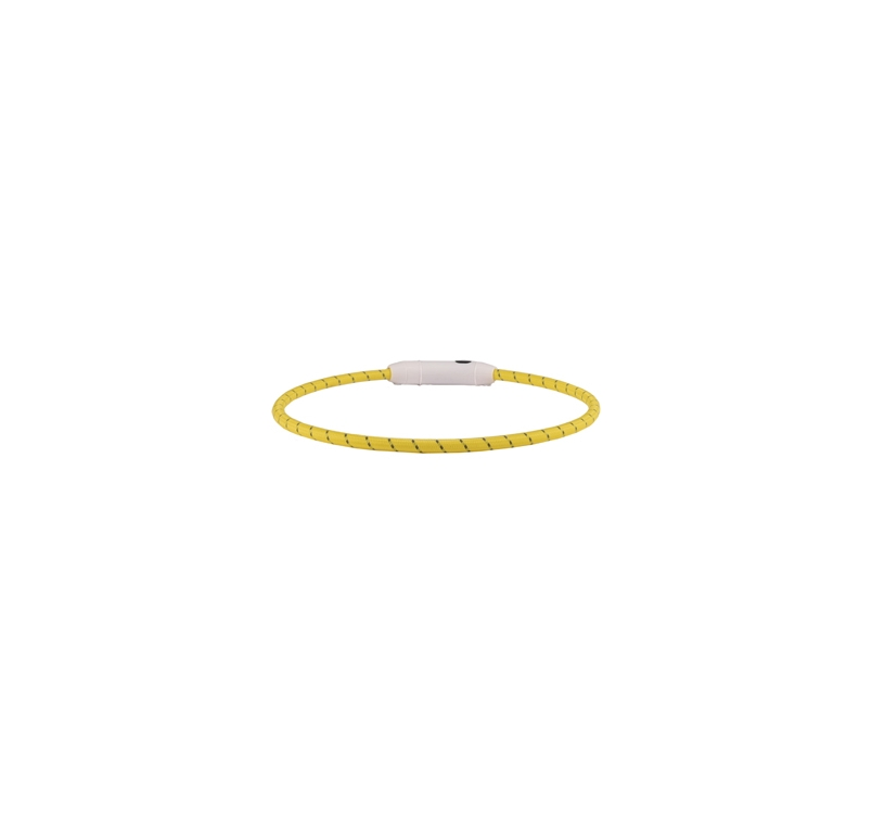Collar with LED Light Yellow 33-63,5cm 8mm