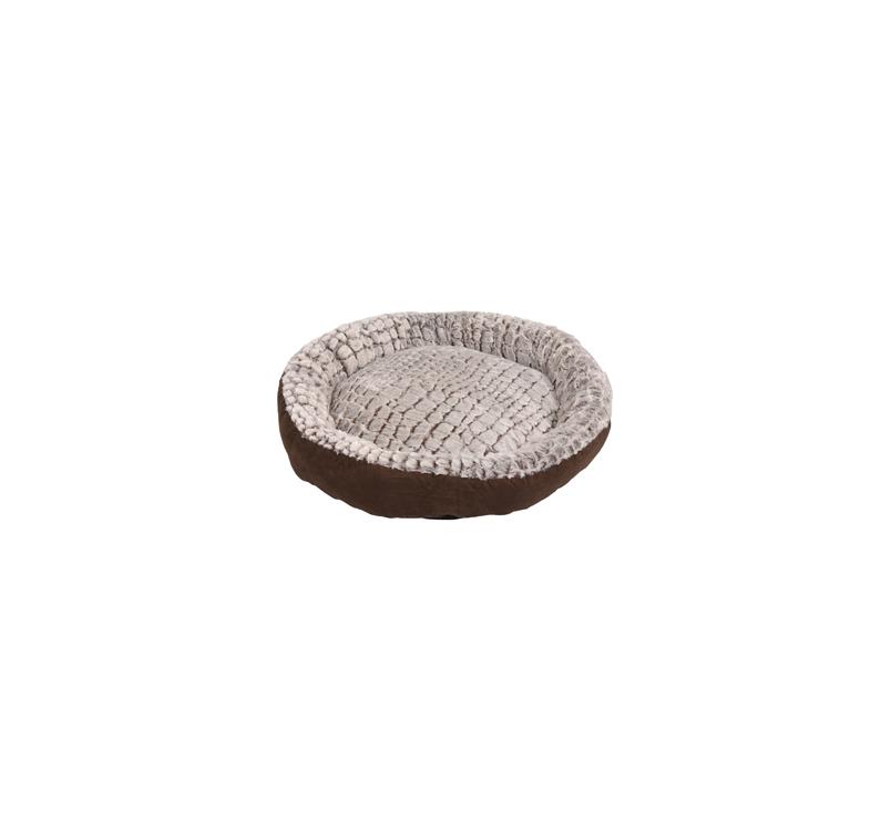Basket Snoozzy Round Brown/Grey 50x15cm