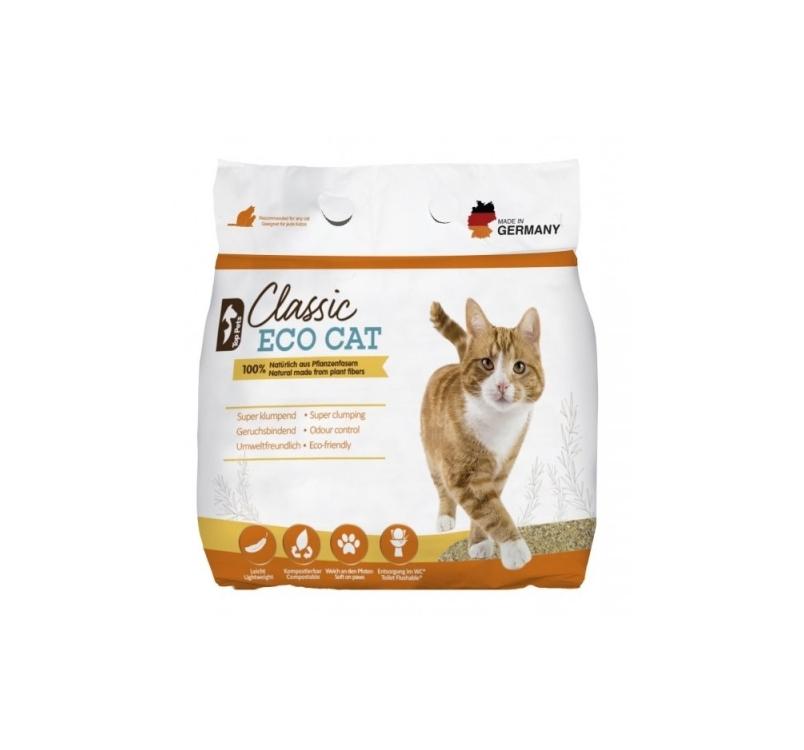 Classic Eco Cat, 100% натуральный биоразлагаемый комкующийся наполнитель 6л