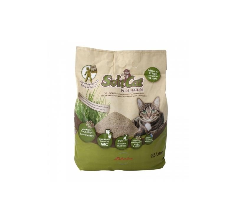"""Комкующийся песок для кошек """"Soft Cat"""" 9,5л"""