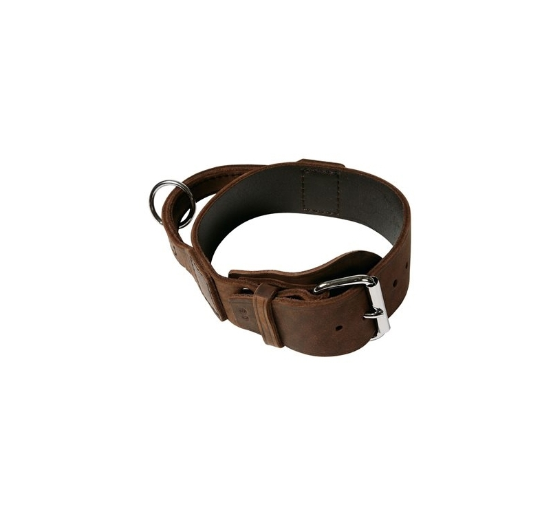 Soft Leather Collar with Handle 40mm x 46-56cm