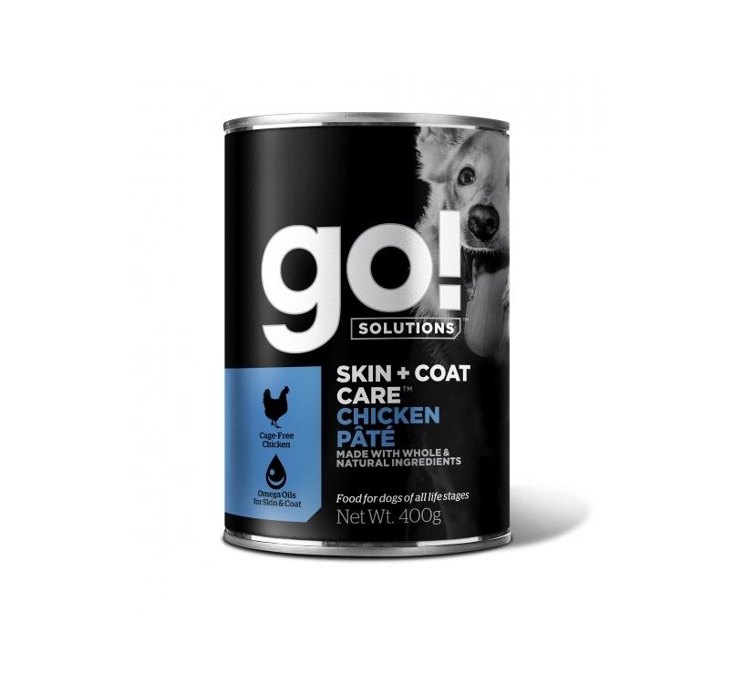 GO! Skin + Coat консервы с курицей для собак 400g