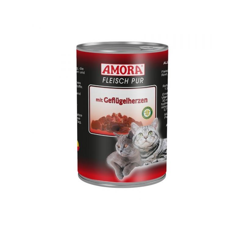 Amora Консервы для кошек - птичье сердце 400г