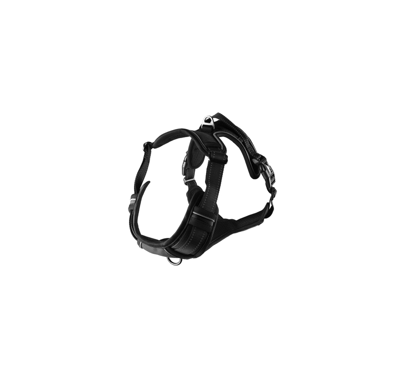 Harness Balou Black L 60-85cm x 25mm