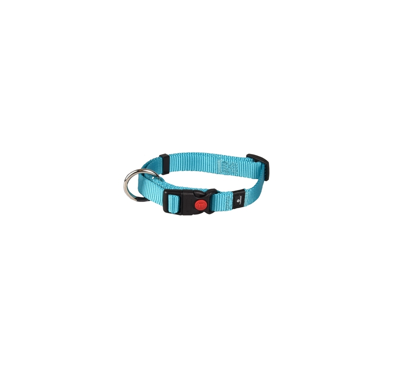 Collar Nylon Turqoise 30-45cm 15mm
