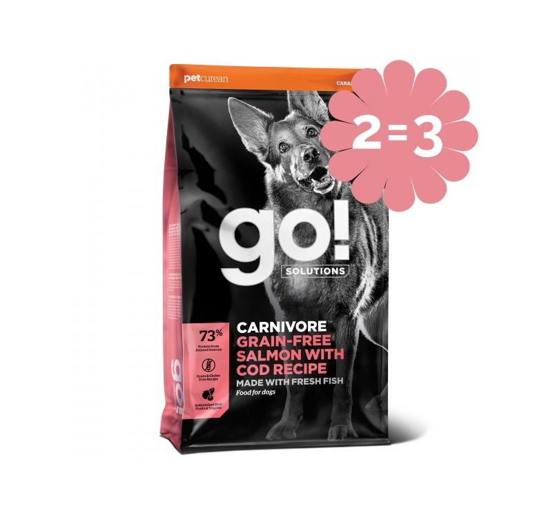 2=3 GO! Carnivore Беззерновой корм с лососем и треской для собак всех возрастов 1,6кг