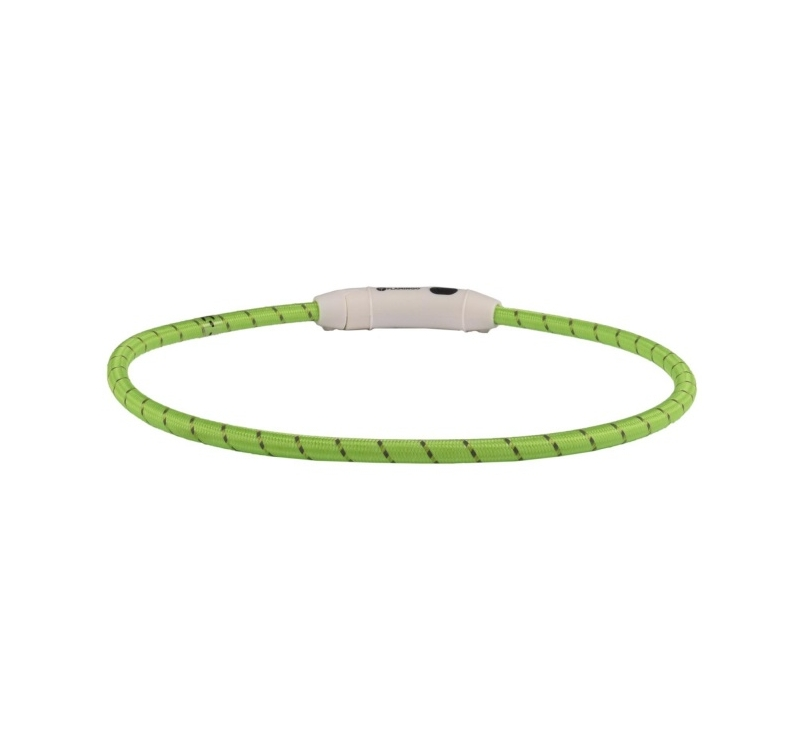 Collar with LED Light Green 33-63,5cm 8mm