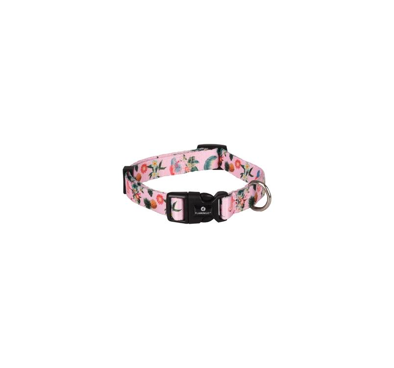 Collar Sera Pink with Flamingo 40-55cm 20mm
