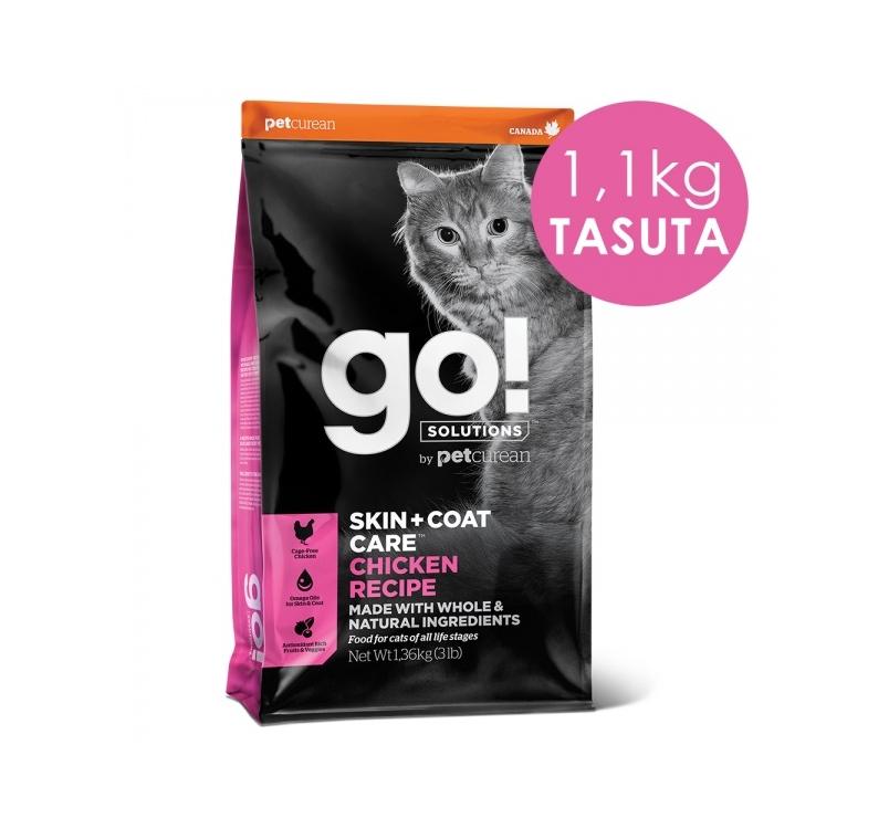 GO! Skin + Coat Kanalihaga Kuivtoit Kassile & Kassipojale 7,3kg + 1,1kg TASUTA (31/01/21)