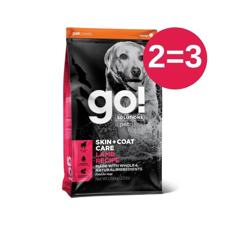 2=3 GO! Skin + Coat Lambaga Kuivtoit Koerale & Kutsikale 1,6kg