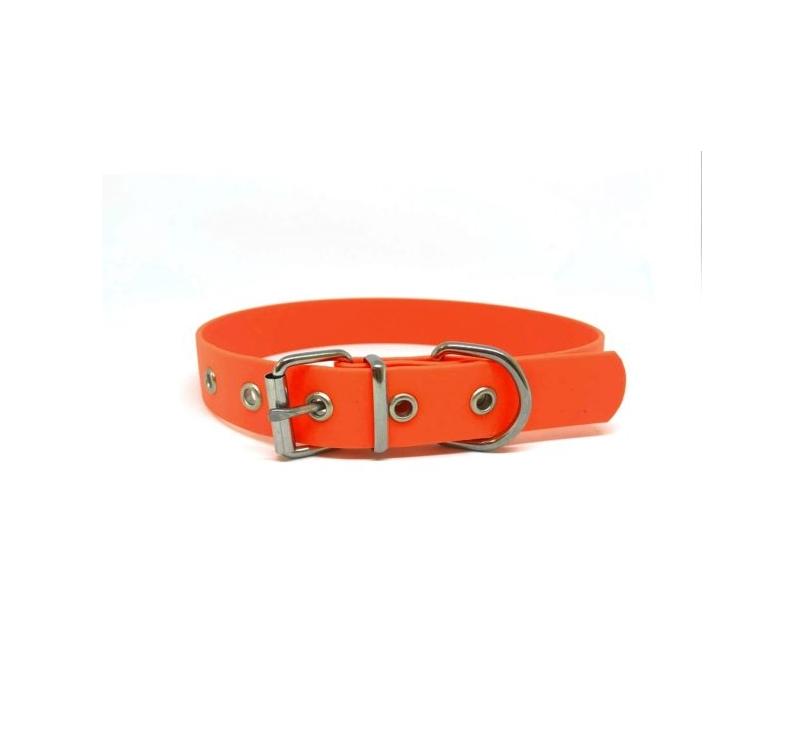 Kaelarihm Biothane Oranž 25mm x 55cm