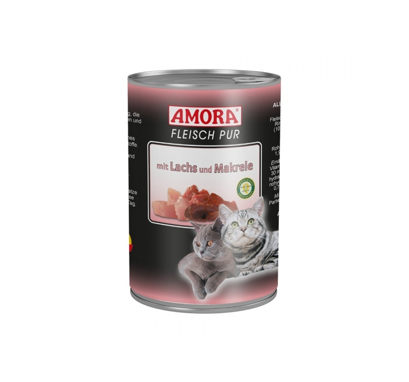 Amora Canned Cat Food (Salmon & Mackerel) 400g