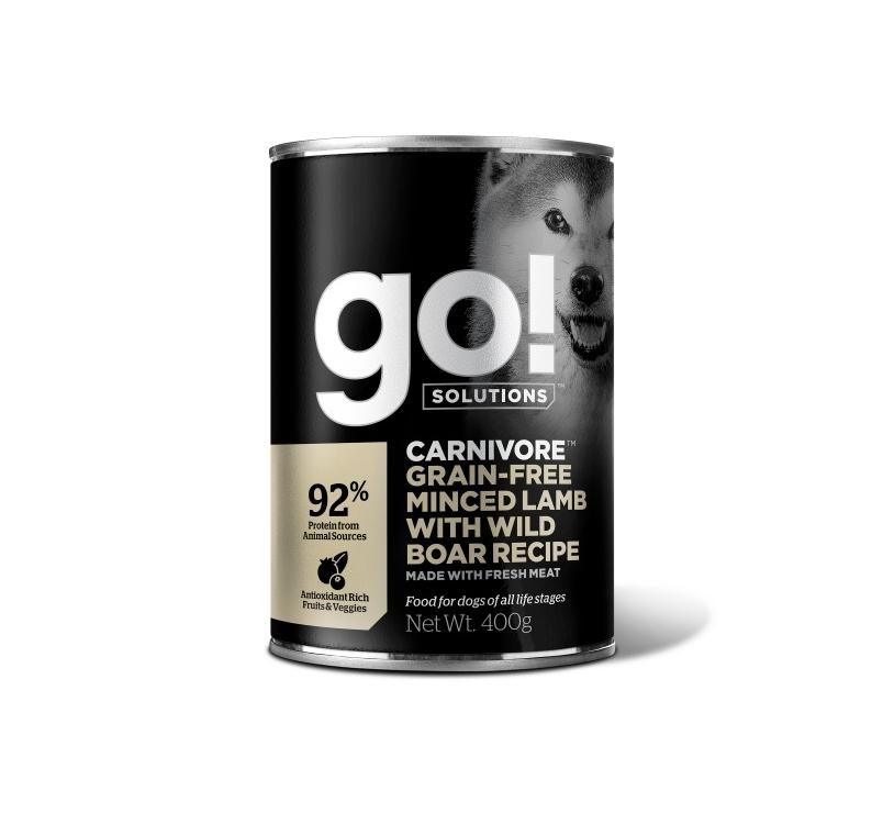 GO! Carnivore Konserv Hakitud Lambaliha & Metssealiha Koerale 400g