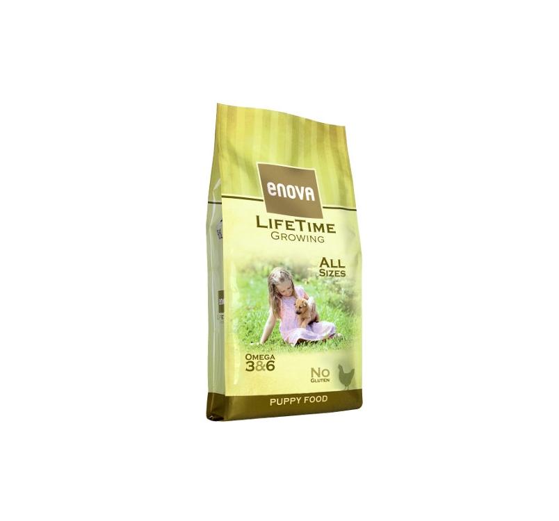 Enova Lifetime Growing Полноценное сбалансированное питание для щенков (подхоит для беременных и кормящих сук) 12кг