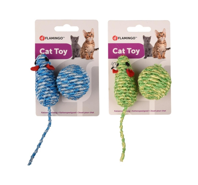 Cat Toy Zyra (Ball + Mouse) Assortment