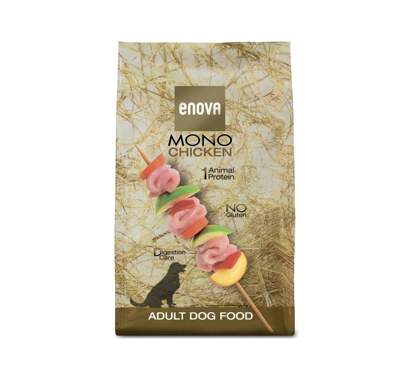 ENOVA Mono Chicken Kuivtoit Täiskasvanud Koerale 2kg
