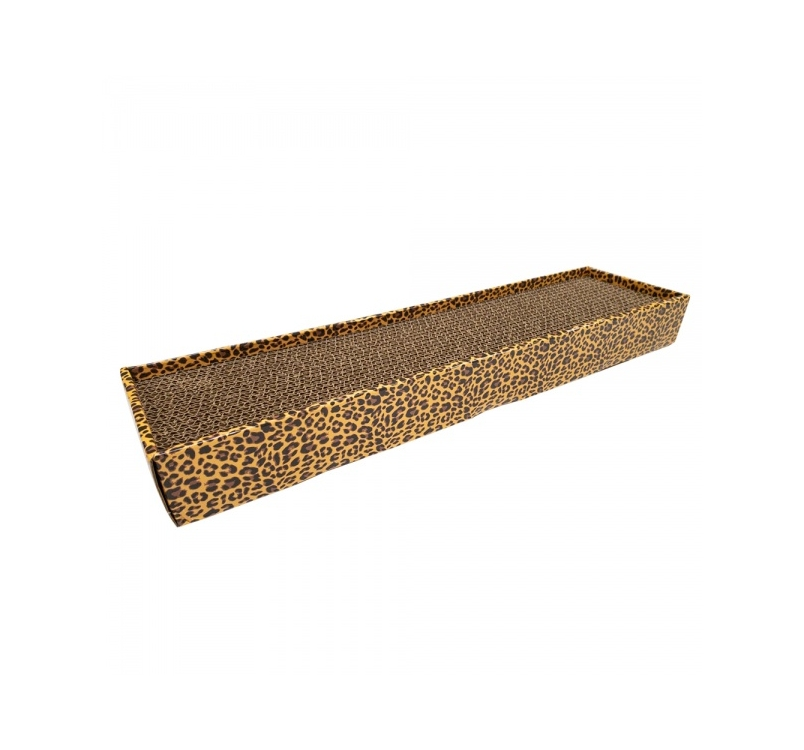 Cardboard Scratching Post Leopard 48x12,5x5cm