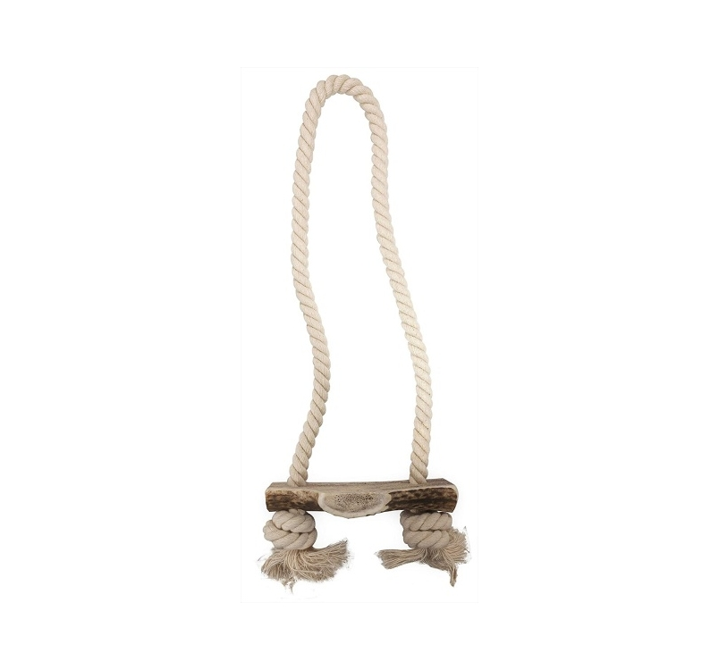 Niki Natural Rope Toy with Deer Antler 40cm