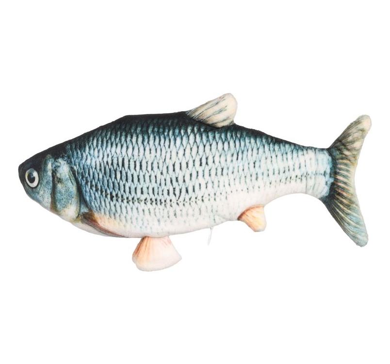 Cat Toy Flounder Moving Fish Grey 29cm