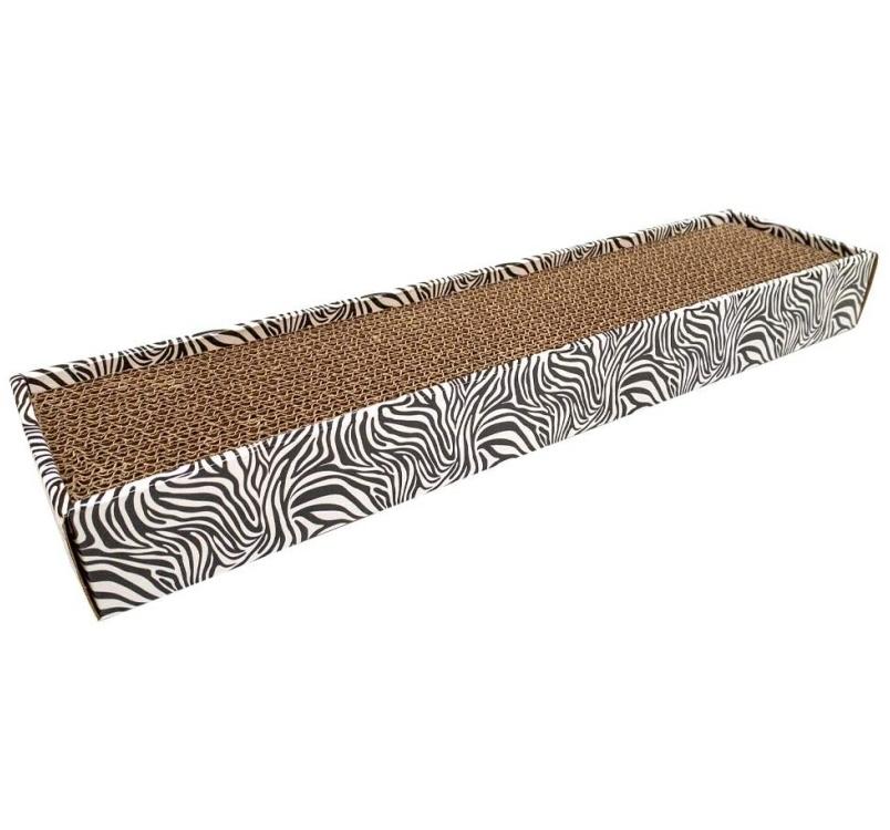 Когтеточка из картона для кошки Zebra 48x12,5x5см