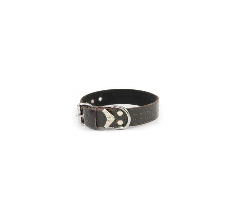 Collar Leather+Nailon 40cm x 50mm