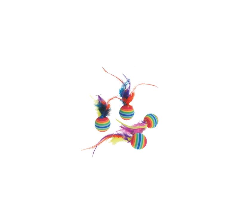 "Игрушка для кошки ""Rainbowball"" 4шт"